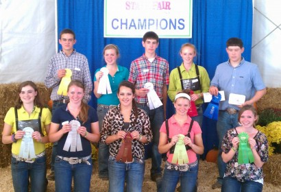 10th Place Premier Sheep Exhibitor and 2nd Place Premier Swine Exhibitor